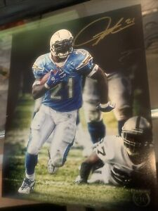 Ladainian Tomlinson Autographed 8x10 Photo Panini VIP Signed Chargers