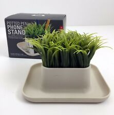 "Kikkerland Potted Pen Stand Fake Grass Pen Holder/ Phone Tray Desk Organizer 5"""
