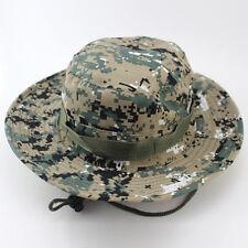 Unisex Sun Camo Bucket Hat Outdoor Boonie Hunting Fishing Cap Military Wide Brim