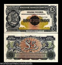 GREAT BRITAIN 5 POUNDS PM23 1948 BRITISH ARMED FORCES UNC CURRENCY MONEY NOTE