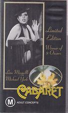 PAL VHS VIDEO TAPE : CABARET LIMITED ED. & UNOPENED SOUNDTRACK AUDIO CASSETTE