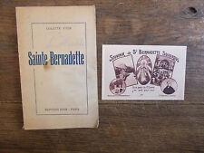 L'humble Sainte Bernadette / Colette Yver + une carte postale