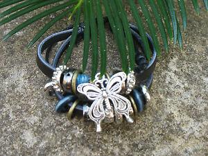 Butterfly Charms & Rings Tribal Surf Bohemian Retro Ladies Kids Bracelet