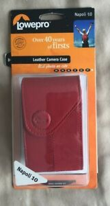 NEW Lowepro Camera Case in Genuine Full Grain Luxurious in Red Leather Napoli 10