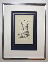 Lithograph By Salvador Dali Titled Victoire Du Cycle Wine, Women, Words. COA
