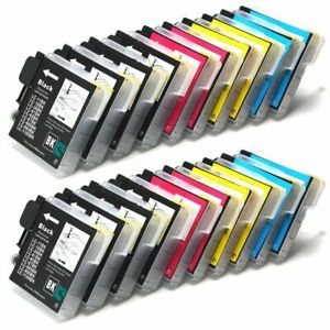 20 Ink Cartridges fit Brother LC1100 MFC-5890CN MFC-790CW MFC-795CW MFC-6490CW