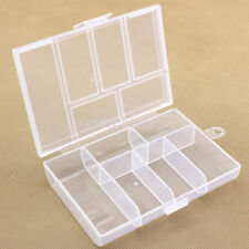 Large Clear Plastic Home Earring Jewelry Storage Box Case Bead Organizer Holder