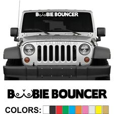 Boobie Bouncer Windshield Decal Sticker Turbo Car Truck Diesel Race Atv boobs