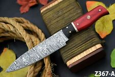 Custom Hand Forged Damascus Steel Chef Knife Handmade,Wooden Handle (Z367-A)