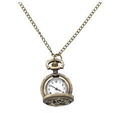 Damen Quarzuhr Umhaengeuhr Taschenuhr Halskette Uhr Ketteuhr Legierung Hohl W4E5