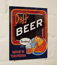Duff Beer Retro metal Aluminium Sign vintage the simpsons pub bar beer signs