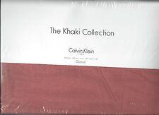 Calvin Klein Papaya Queen Flat Sheet Khaki Collection New 1st Quality