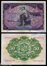 Billete 50 Pesetas 1906 MBC /  SPAIN Pick 58 a F+
