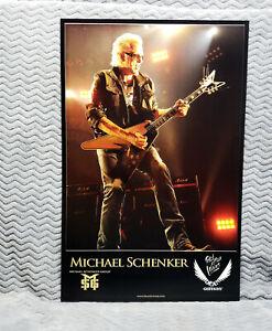 UFO *Michael Schenker* Dean Guitars Promo Poster<<>>MSG
