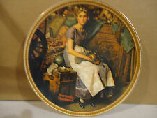 Norman Rockwell Rediscovered Women Collection Dreaming In The Attic Plate COA