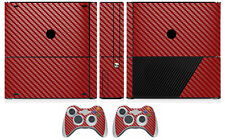 Red Carbon Fiber Vinyl Skin Sticker for Xbox360 Slim E and 2 controller skins