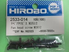 2533-014 Hirobo RC Helicopter Part Pan Head Screw M3x12 New In Package 2533014
