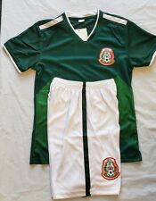 Kids Youth 2018 Mexico Fans Home Jersey and Short Youth M (8-10 Years)