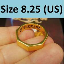 Sz8.25 Gold Rahu Fortune Ring 8 Direction Thai Buddha Amulet Luck Magic Power