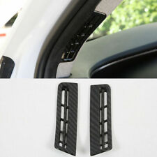 For Hyundai Santa Fe 2019 Carbon Fiber Black A Pillar Air Vent Outlet Cover Trim