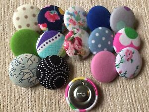 *CLEARANCE* 15 Mixed Colour & Pattern 28mm Buttons Sewing/Craft/Upholstery LOT45