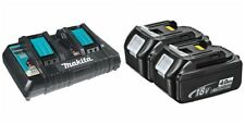 2  New Makita 18V BL1840B Batteries, & 1 DC18RD Dual Battery Charger 18 Vol