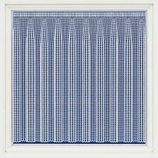 MODERN GEOMETRIC SQUARES  BARCELONA THICK WHITE NET CURTAIN SOLD BY THE METRE 1