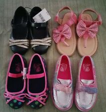 Lot Of 4 Pairs Toddler Girls Dress Shoes Boat Shoes Ballet Flats Black Size 7