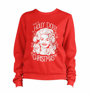 *last stock reduced* Have A Holly Dolly Christmas 1 Sweatshirt Pullover Sweater