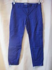 Gap Slim Cropped Flat Front Stretch Becca Blue Pants 25.5 inseam Size 2