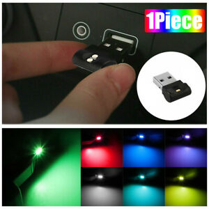 1X Mini USB RGB LED Car Interior Light Touch Key Neon Atmosphere Ambient Lamp