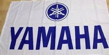FREE SHIP TO USA YAMAHA LOGO White FLAG BANNER 3x5 feet yfz yzf fjr xt250 tt