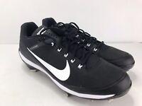 Nike Air Clipper 17' Low Black/White Men's Baseball Cleats Size 13 (880261 010)