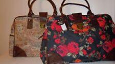 Shopper Schwarz Handtasche Satchel Blumen Groß A4 Primark Kunst-Leder NEU Rosen