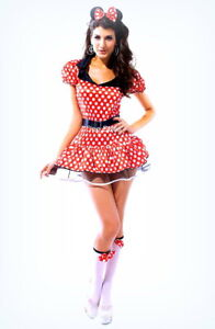 Minnie Mouse Fancy Dress Ladies Woman Costume Outfit 8-10 uk
