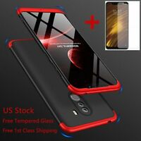 For Xiaomi Pocophone F1 360° Full Body Shockproof Hybrid Slim Hard Case Cover