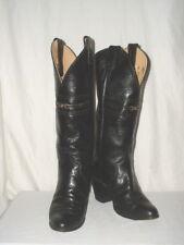 Women's Justin Black Leather Cowboy Boots 5B L4401