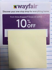 WAYFAIR: 10% Off Your First Order - Coupon Code Expires December 4, 2020