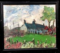 1960s IRISH / WELSH IMPRESSIONIST OIL PAINTING OF FARM -   SIR.K.WILLIAMS ????