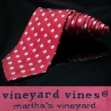Vineyard Vines Red Saint Sports Unique Luxury Dapper Suit Fashion Tie