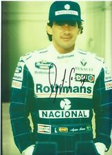 Ayrton Senna 1994 Williams Team Overalls Signed Portrait Photo and dated '94'