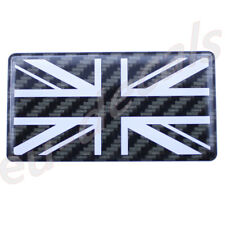 Carbon fiber/white Union Jack flag 3D Decal domed 7cm for triumph speed triple