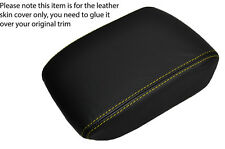 YELLOW STITCHING LEATHER ARMREST LID SKIN COVER FITS SAAB 9-5 95 2006-2009