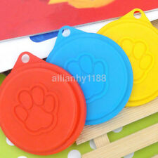 2pcs Hot Pet Dog Cat Food Snack Can Tin Lid Covers Food Cover Kitchen Storage UK