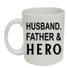 Husband, Father & Hero Mug - NOVELTY GIFT FOR DAD, FATHER, DADDY, Drinking Mug
