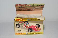 DINKY TOYS 225 LOTUS F1 RACING CAR ORIGINAL EMPTY BOX NEAR MINT CONDITION