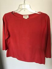 Neiman Marcus Red Silk Top - Size 6