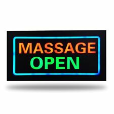 12V LED MASSAGE OPEN Neon Sign for Business and Shop Parlor Quality