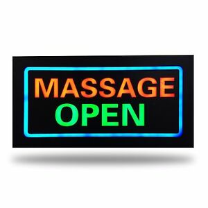Beautiful 12V LED MASSAGE OPEN Neon Sign for Business and Shop Parlor Quality