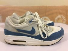 Nike Airmax Boys Girls Women's White Blue Trainer Euro 38 UK 5 GOOD USED COND.